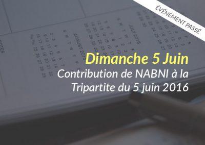Contribution du collectif NABNI à la rencontre «Tripartite» du 5 juin 2016